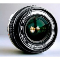 Olympus Zuiko MC 28/f2 OM fit wideangle lens silver trim version