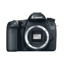 Canon 70D 20MP DSLR Camera Body with Live View, HD Video and Angle Screen.