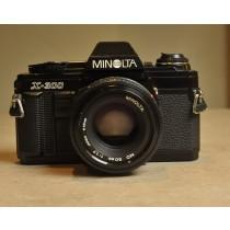 Minolta X-300 black. with Minolta MD 50mm f1.7 lens.