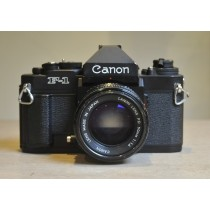 Canon F1n with 50mm 1.4 Fdn lens