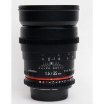Walimex Pro 35mm/T1.5 VDSLR lens Nikon Fit