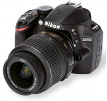 Nikon D3200 plus 18-55mm f3.5/f5.6 AFS DX zoom lens